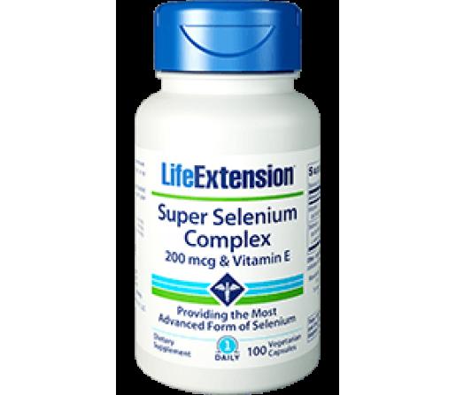 Super Selenium Complex, Selenio 100 cápsulas vegetales LIFEEXTENSION