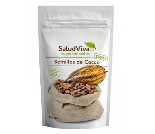 Semillas de Cacao Crudas y Ecológicas de Perú 250gr. SALUD VIVA