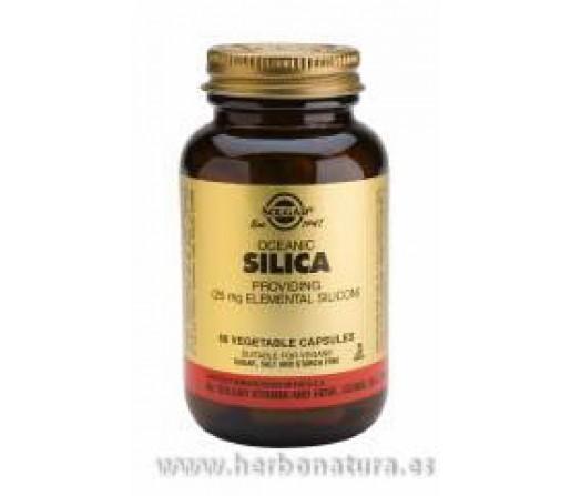 Sílice Oceánico Silica  Lithothamnium Calcareum50 cápsulas vegetales SOLGAR