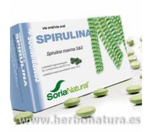 Spirulina Maxima S&G espirulina platensis 60 comprimidos. SORIA NATURAL