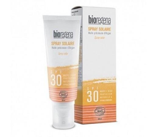 Spray solar SPF 30 biológico, Vegano con argán 90ml BIOREGENA