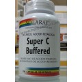 Super C Buffered Vitamina C 100 cápsulas vegetales Acción retardada en dos pasos SOLARAY