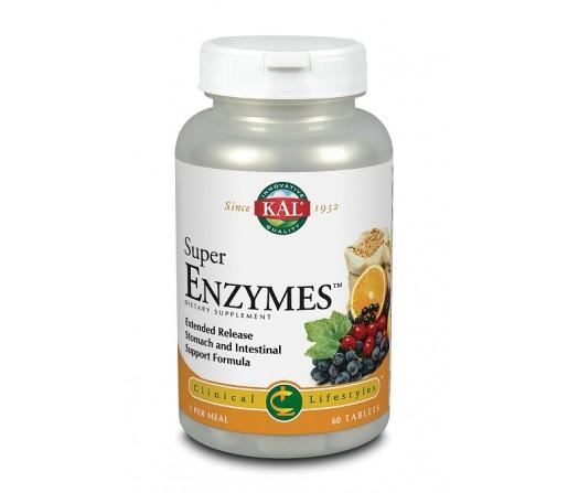 Super Enzymes, Enzimas Digestivas 60 comprimidos Kal. SOLARAY