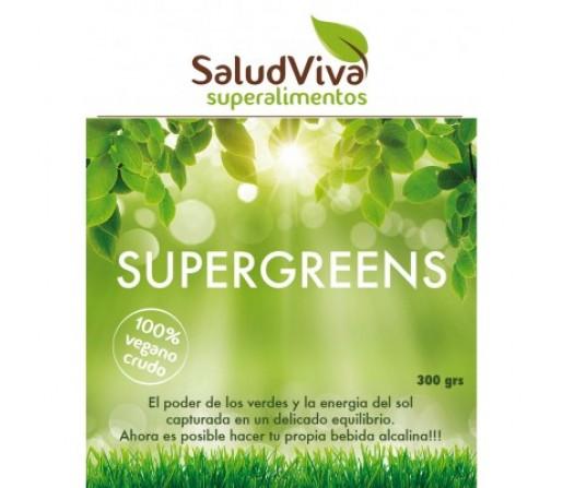 Supergreens Bebida Alcalina Bio Crudo 300gr. SALUD VIVA
