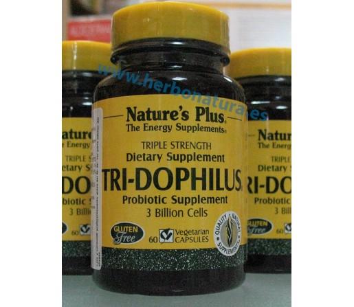 Tri-Dophilus Probiótico 60 cápsulas NATURE`S PLUS