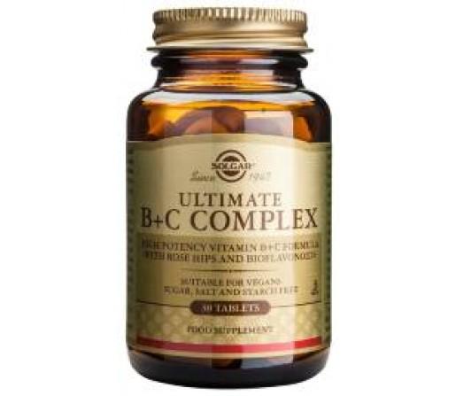 Ultimate B + C Complex Vitaminas B y C 30 comprimidos SOLGAR