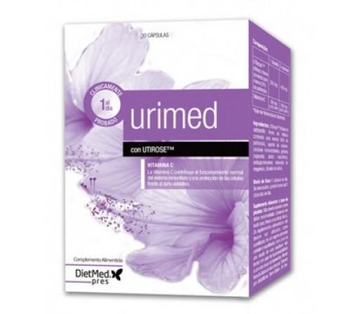 Urimed con Utirose, Hibiscus Sabdariffa y Vitamina C 30 cápsulas DIETMED