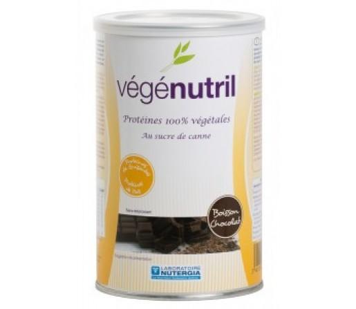 Vegenutril Chocolate, Proteina Vegetal sin aspartamo 300gr. NUTERGIA