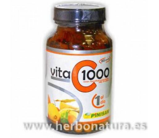 Vita C 1000 mg. Vitamina C con Bioflavonoides 90 cápsulas PINISAN