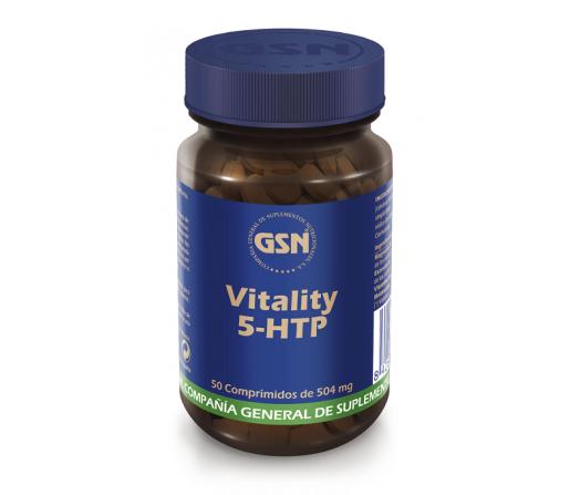 Vitality 5-HTP, Griffonia, Citrato de Magnesio, Melatonina y B6, 50comprimidos GSN