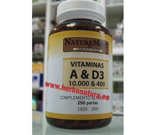 Vitaminas A y D3 250 perlas NATURE MOST