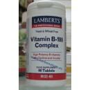 Vitamina B-100 Complex Potenciada con Colina y Inositol 60 comprimidos LAMBERTS