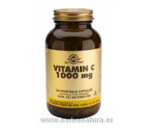 Vitamina C 1000 mg 100 Cápsulas vegetales SOLGAR