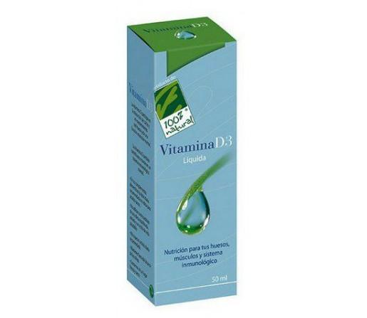Vitamina D3 líquida Colecalciferól 50ml. 100% NATURAL
