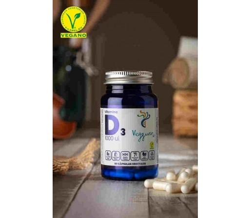 Vitamina D3 1000UI (25µg) Colecalciferol. 60 cápsulas vegetales VEGGUNN