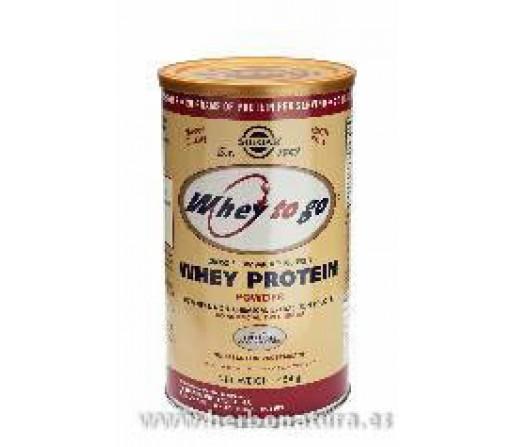 Whey To Go Proteína de suero en polvo (Sabor a chocolate) 1162gr. SOLGAR