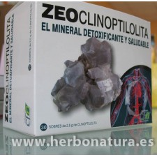Zeoclinoptilolita Zeolita detoxificante 30 sobres de 2,5gr. CFN