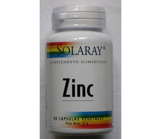 Zinc (citrato de Zinc) 60 cápsulas vegetales SOLARAY