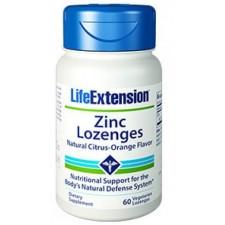Zinc Lozenges, Oxido y Gluconato de Zinc 60 cápsulas LIFEEXTENSION